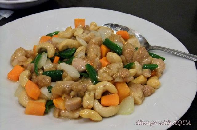 鶏とカシューナッツの炒め物