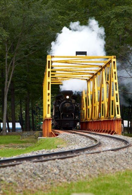 鉄橋を渡る雨宮号