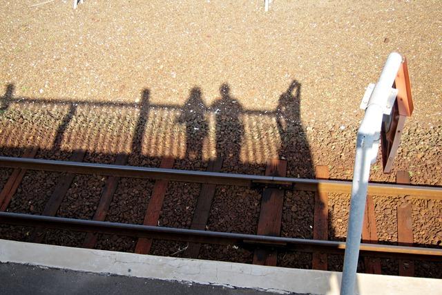 北浜駅にて