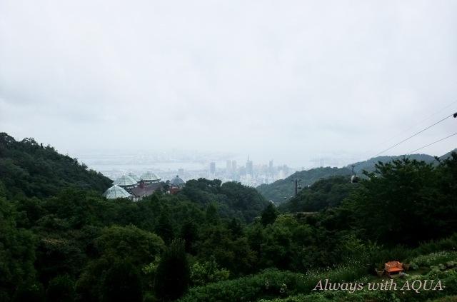 遙か遠くに神戸の街