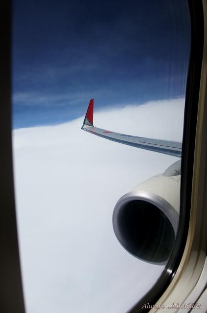 分厚い雲の上