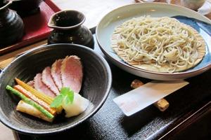 鴨と素揚げ野菜蕎麦